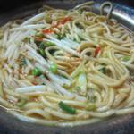 屋台まみちゃん - もつ麺のアップ