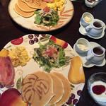 メリア - 料理写真:パンケーキモーニング¥600