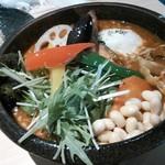 Rojiura Curry SAMURAI.  - 挽き肉温玉納豆と野菜