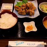 やるき茶屋 - 鶏から揚定食