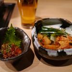 薩摩 牛の蔵 - 【キムチの盛り合わせ】¥864と【チャンジャ】¥486