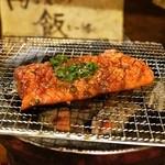 亀戸ホルモン - 2015.2 レンガハラミを炭火の七輪で焼きます