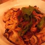 35094171 - 牡蠣と菜の花のトマトソース