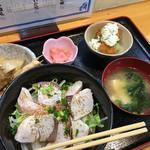 とじま亭 - 炙りブリ丼定食