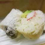 匠の宿 佳松 - 凌ぎ 蟹サラダ寿司 アボガド 椎茸