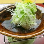 匠の宿 佳松 - 台物 鰺つみれ鍋 水菜 岩月