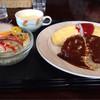 キッチン玉ねぎ - 料理写真:オムライスハンバーグ(少し大きめ)セット