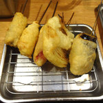 串かつでんがな - 5本セット(牛・チキン・ウインナー・茄子・玉ねぎ)です。