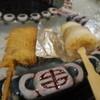 串の坊 - 料理写真:アルミで巻いてるのがずわい蟹鱚巻