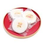萬御菓子誂處 樫舎 - 干菓子:小種 2枚入 (129円x3) '15 1月上旬