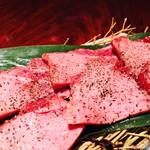 焼肉 味道苑 大手町 - 特選上黒芯タン 肉厚ですp(^_^)q