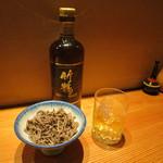 35110837 - 馬肉の佃煮&ウイスキー(竹鶴)