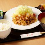 黒豚生姜焼き御膳+ビュッフェ