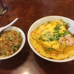 ニュー上海 - ランチの天津麺と半チャーハン