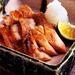 吉祥庵 - 日南鶏の炭火焼 柚子胡椒を添えて 780円