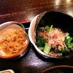 志乃ぶ - 志乃ぶ @代々木 小松菜おしたし、切干大根