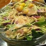 カレーの店 マヤ - 日替わりセット\850 サラダ