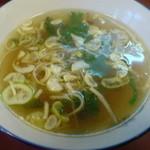 ラーメン天海 - チャーハン ¥800 スープ