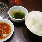 35126621 - ごはんとタレとスープ