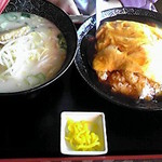 台湾料理 香林坊 - 天津飯と豚骨ラーメン