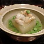 蕎麦割烹  倉田 - 白子と玉子豆腐 うすい豆
