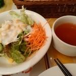 洋食キッチン シャトー - 【2015.2.16(月)】野菜サラダとスープをお代わり