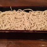 山せみ - 鶏セセリ肉と砂肝たっぷりキノコのつけ汁蕎麦(1200円税別)