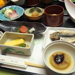 桂川 - 料理写真:シンプルかつ、修善寺らしいメニューが揃った朝食です(*´∀`*)