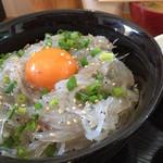 地魚・定食 祥天丸漁業 - 生しらす丼定食・並(800円)★★★☆☆