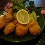 35130676 - ヒレかつ、カキフライ盛合せ定食