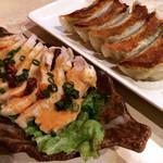 あかずきん - しそ巻きギョーザ&ピリ辛鶏チャーシュー
