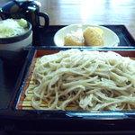 本宿 - 料理写真:焼きおにぎりセット・そば(\700)