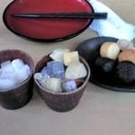 35142331 - フルーツバイキング(杏仁豆腐、フルーツ寒天、プチケーキ)