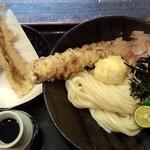 瀬戸内製麺710 - ちく玉天ぶっかけ&穴子天(H27.2.15)