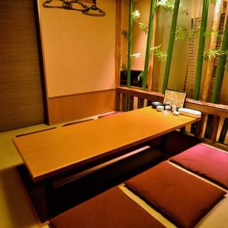 ◆大小様々な個室をご用意!寛ぎの和の空間をお楽しみください。
