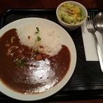 35143255 - 江戸前カレーSサイズ(辛さ2倍)+長生き納豆