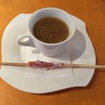 35148084 - 玉ねぎのスープとグリッシーニ