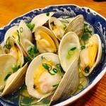 お酒菜やさん - 白ハマグリの酒蒸し!(¥650)