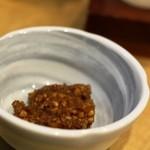信州おさけ村 - アテその③ ソバミソ 適度な甘みが日本酒に合いすぎです。