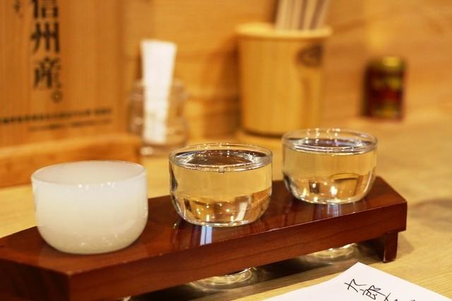 信州おさけ村 - 三種類の日本酒をお試し♪