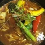 スープカレー モンキー マジック - 野菜チキンスープカレーです。