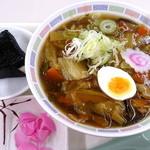 札幌市役所本庁舎食堂 - 特選ラーメンおにぎりセット_600円