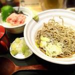 国産二八蕎麦 蕎香 - ねぎとろ丼セット 900円