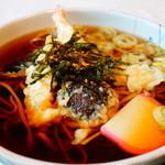 将棋むら天童タワー - 料理写真:天ぷらそば (1,030円)