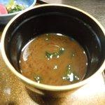 浅草今半 - 赤出汁は美味しい