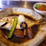 オーガニックカフェ チャント - 限定ランチの天然鯛の煮付け定食。