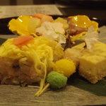 れんげ草 - 三月ということもあってひな祭のイメージの前菜たち