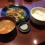みしょーれ奄美 - ゴーヤチャンプルーみそ炒め定食
