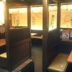 ら~麺藤平 - ボックス席なので隣を気にせずお食事できます♪