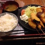 Kushikatsudengana - 串かつ定食B